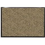 "casa pura Carpet Entrance Mat, Beige/Black (Mottled) 24"" x 36"" | Absorbent, Non-slip, Indoor/Outdoor (Multiple Sizes)"