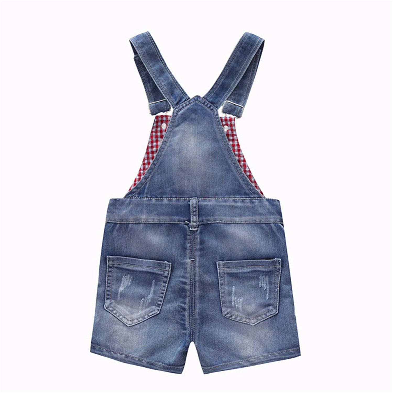 ef69f68c4908a Amazon.com: Adam Woolf 9M-4T Baby Summer Jeans Overalls Infant ...