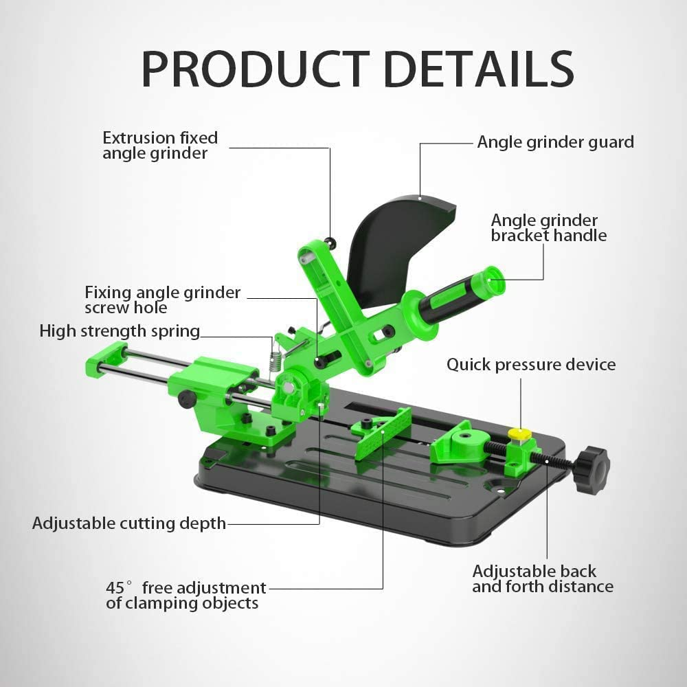 Weight 4kg//8.8lb Angle Grinders Cutting Stand Upgrade Version Multifunctional Desktop Pull Rod Angle Grinding Machine Stand for 100 and 125 Angle Grinder Cutting Tool