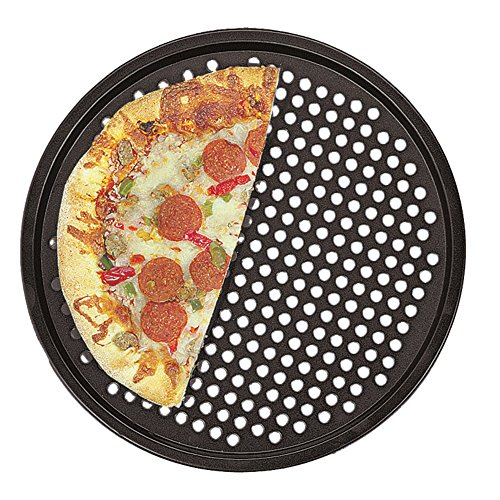 Fox Run 4491 Pizza Crisper Pan, Carbon Steel, (Non Stick Pizza Pan)