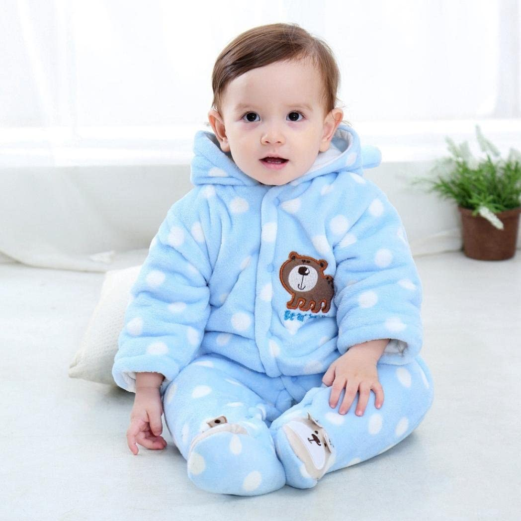 Winsummer Newborn Baby Jumpsuit Outfit Hoody Coat Winter Infant Rompers Toddler Clothing Bodysuit