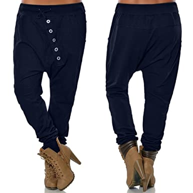 Cinnamou Pantalones de chándal Holgados Pantalones Novio de la ...