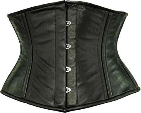 f462a8c0d4 Amazon.com  Orchard Corset CS-411 Underbust Leather Corset  Clothing