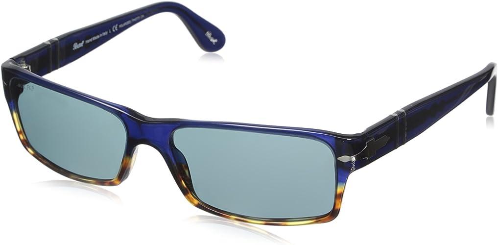 Persol PO 2747 955//4N Havana Blue Photochromatic Polarized Sunglasses 2747S
