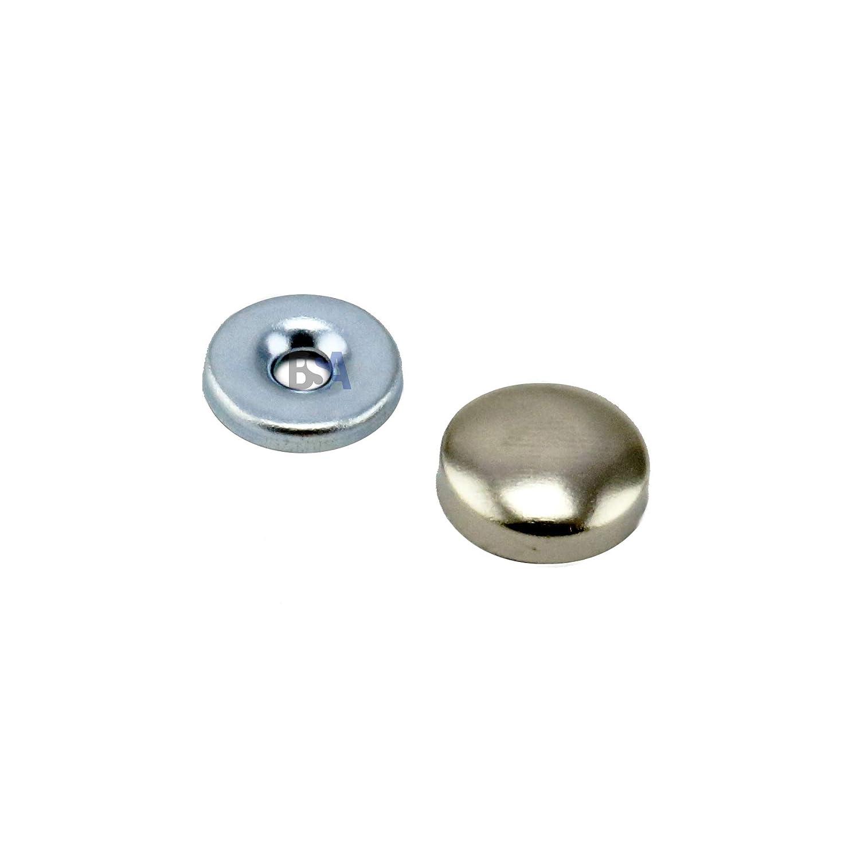 IROX Lot de 10 cache-vis 12 mm en laiton nickel/é /épaisseur 4 mm bouchon cache-vis 12 mm cache-vis nickel