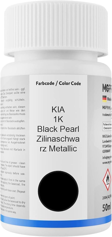Mg Prime Autolack Lackstift Set Für Kia 1k Black Pearl Zilinaschwarz Metallic Basislack Klarlack Je 50ml Auto