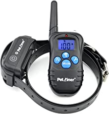 Petrainer PET998DBB1 100% Waterproof and Rechargeable Dog Shock Collar 330 yd Remote Dog Training Collar with Beep/Vibra/Shock Electric E-collar