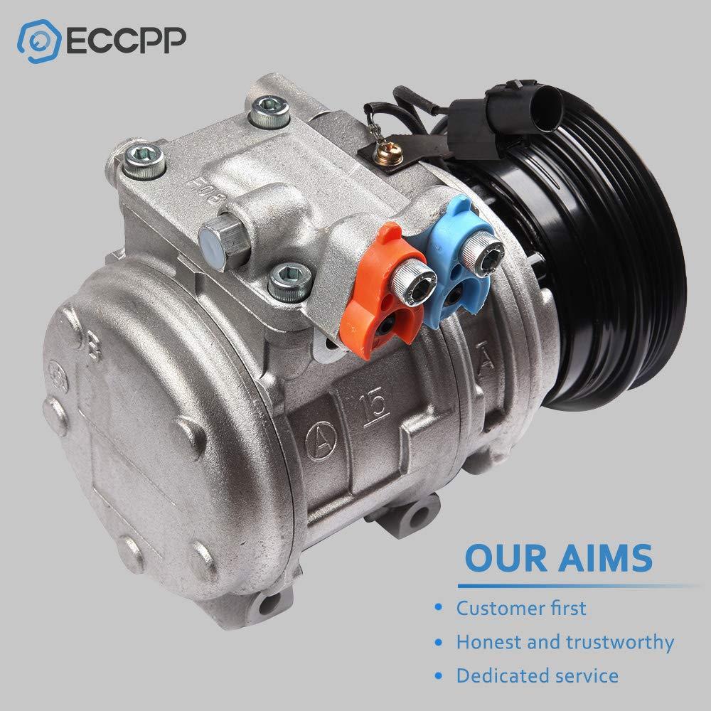 ECCPP Replacement for A//C Compressor fits 05-09 Hyundai Tucson Kia Spectra //Spectra5 05-10 Sportage