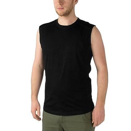 25ed866cb Minus33 Merino Wool 1003 Jericho Men's Lightweight Sleeveless Black Large