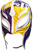 WWE REY MYSTERIO Adult Size Half Purple Half Yellow Replica MASK