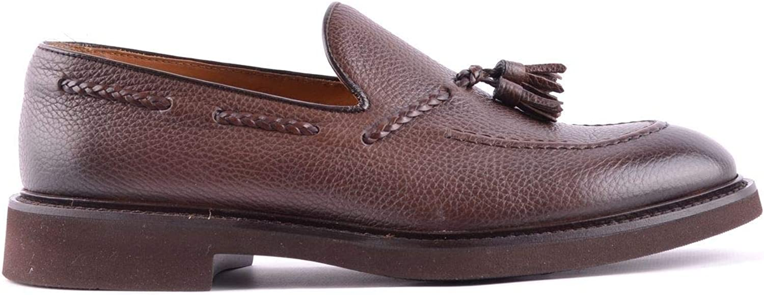 DOUCALS Luxury Fashion Mens Loafers Spring Brown
