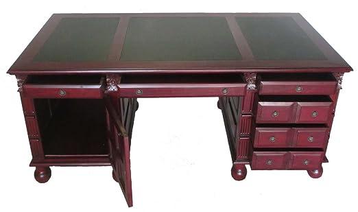 Mesa de escritorio en el estilo Imperial de madera maciza de caoba ...