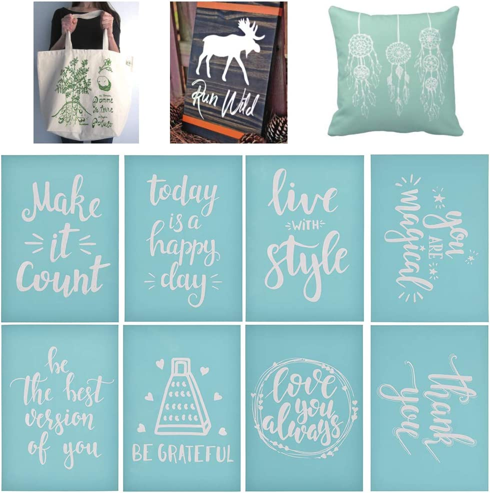 You are Magical YeulionCraft DIY Self-Adhesive Silk Screen Printing Stencil Letters Mesh Transfers Reusable Stencils for Making DIY Sign Decoration Chalkboards Wood
