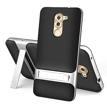 Huawei Honor 6X Funda - SMTR® Calidad premium Cubierta Slim (2 in 1) TPU+PC Armor Funda sigilo bracket para Huawei Honor 6X Smartphone - Plata