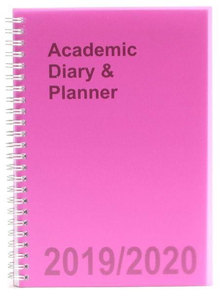 Agenda escolar A5 2019-2020 semanal con espiral, color rosa ...