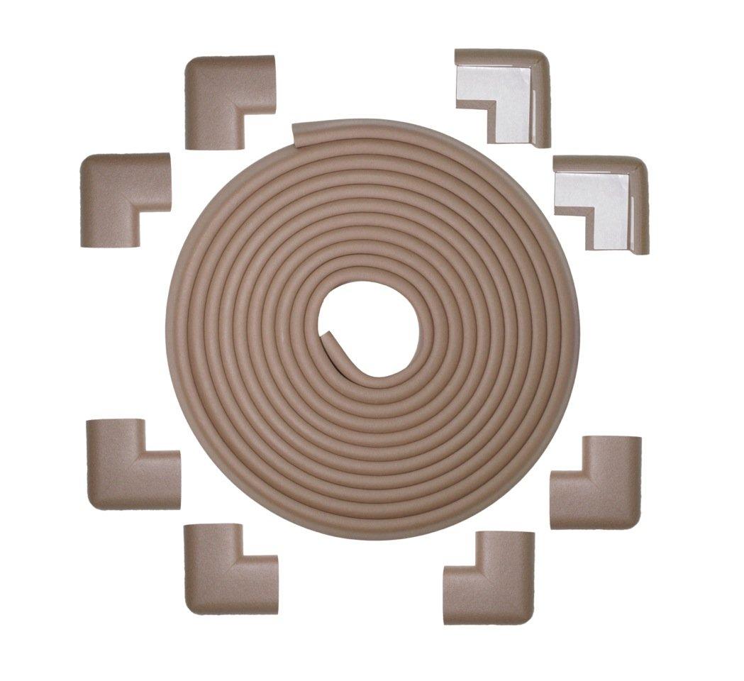 Kidkusion Table Cushion, 20 Feet Edge + 8 Corners, Brown, X-Large