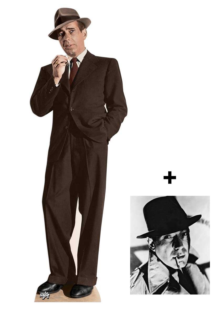 *FAN PACK* - Humphrey Bogart LIFESIZE CARDBOARD CUTOUT (STANDEE / STANDUP) - INCLUDES 8X10 (25X20CM) STAR PHOTO - FAN PACK #300