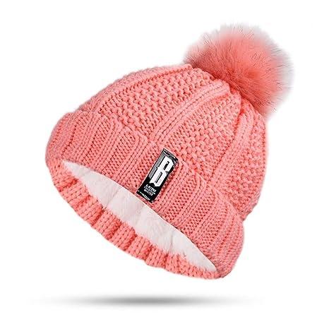 HAOLIEQUAN Cappelli da Donna in Maglia di Cotone Caldo E Confortevole Cappello  da Sci più Velluto 4e7a299089f9