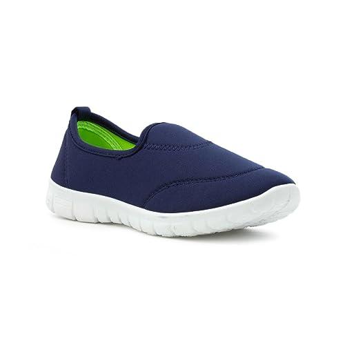 Tick 20882120 - Mocasines de Material Sintético para niña azul azul: Amazon.es: Zapatos y complementos
