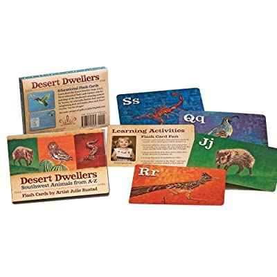 Julie Originals Desert Dwellers Animal Flash Cards, Award Winning A-Z Set Bonus Facts Activities, Fun Learning Ages 2-12: Toys & Games
