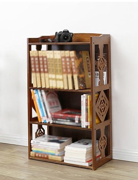 Shelf Units HWF 3 Layers Retro Bookshelf Bookcase Study Living Room Student Childrens Bamboo