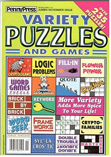 Variety Puzzles and Games November 2003 PDF