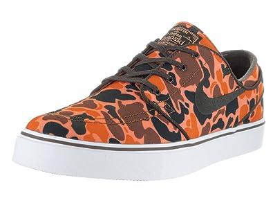 6ef5a7214 Nike Men s Zoom Stefan Janoski CNVS PRM Hazelnut Baroque Brown White Skate  Shoe 9