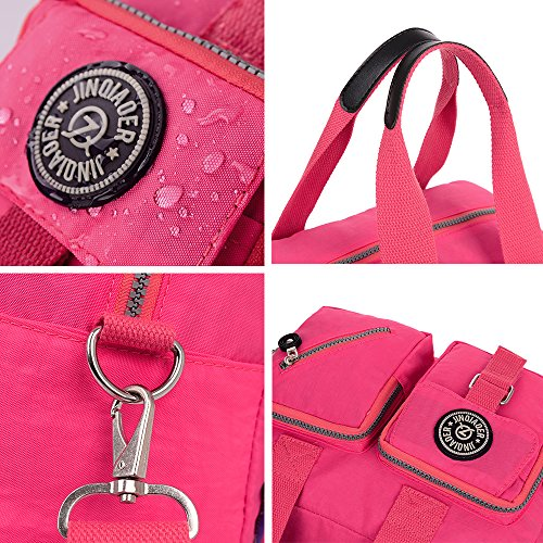 Handbag for Bags Rose Red Resistant Daypack Purse Water Shoulder Rose Crossbody Casual Travel Red Women afqp5w