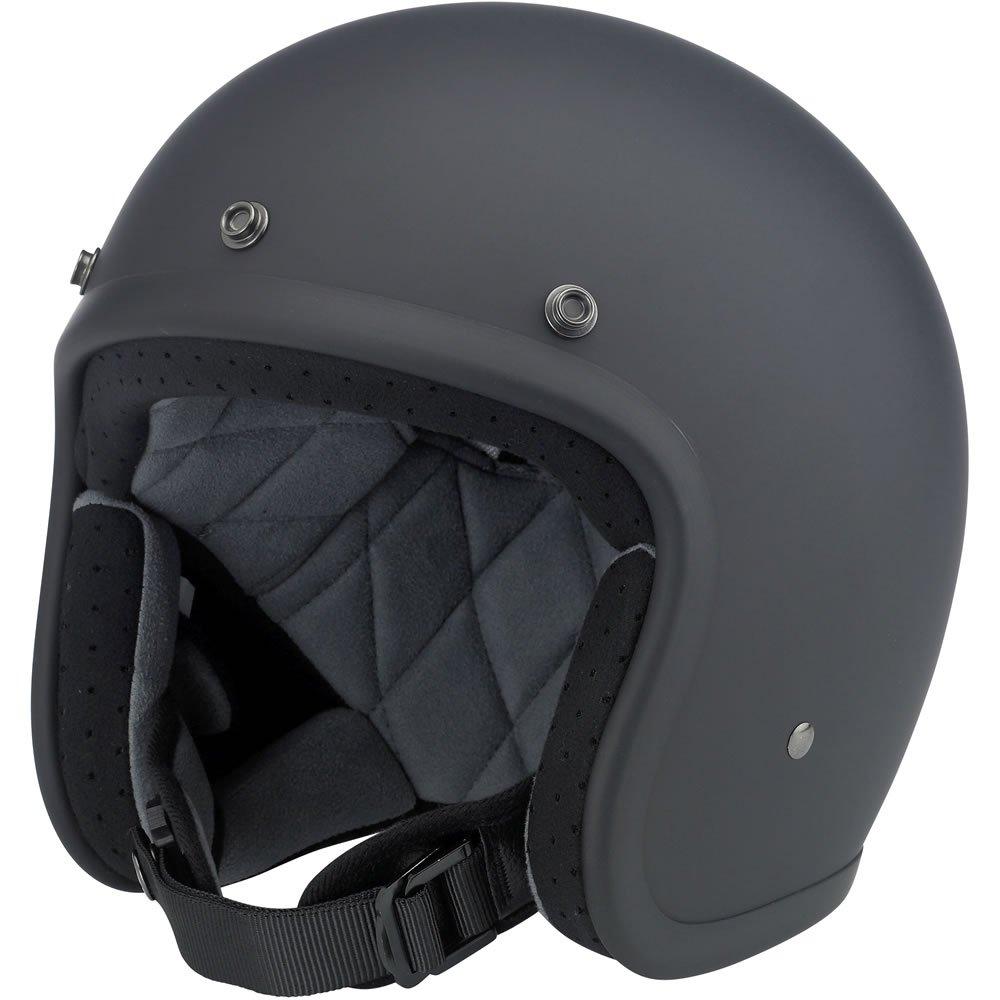 Biltwell Inc. Bonanza Flat Black Open Face Helmet X-Large