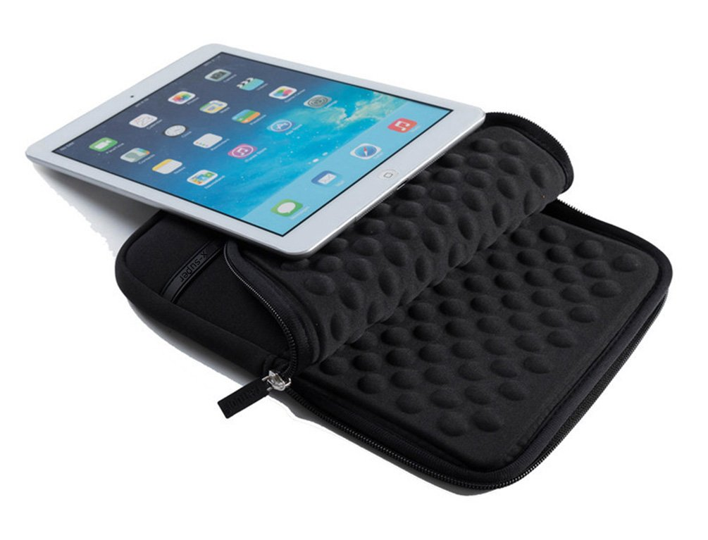 X-super 2017 Version iPad Pro 10.5 Sleeve Pouch Shockproof Neoprene Cover Case with Accessory Pockets Black