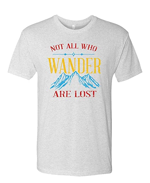0db6daa88 NOT All WHO Wander are Lost - Inspirational - Unisex Next Level Tee, S,