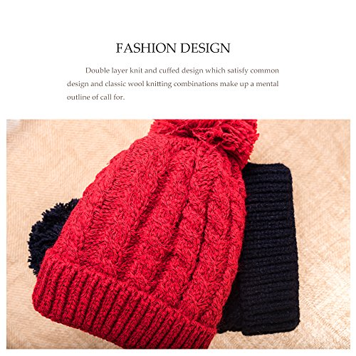 21657c68c7f Women s Winter Beanie Warm Fleece Lining - Thick Slouchy Cable Knit Skull Hat  Ski Cap