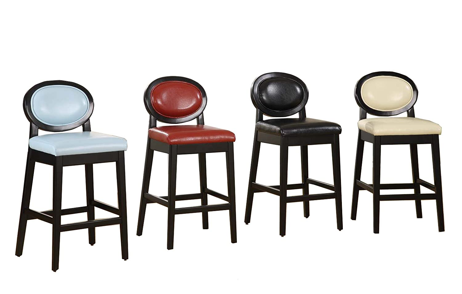 Fine Armen Living Martini Stationary Leather Barstool With Black Legs 26 Inch Red Dailytribune Chair Design For Home Dailytribuneorg