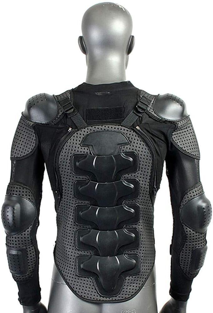quad moto VTT MTB scooter enduro pour homme et femme Noir M KKmoon Veste de protection de moto avec protection pour le dos pour motocross