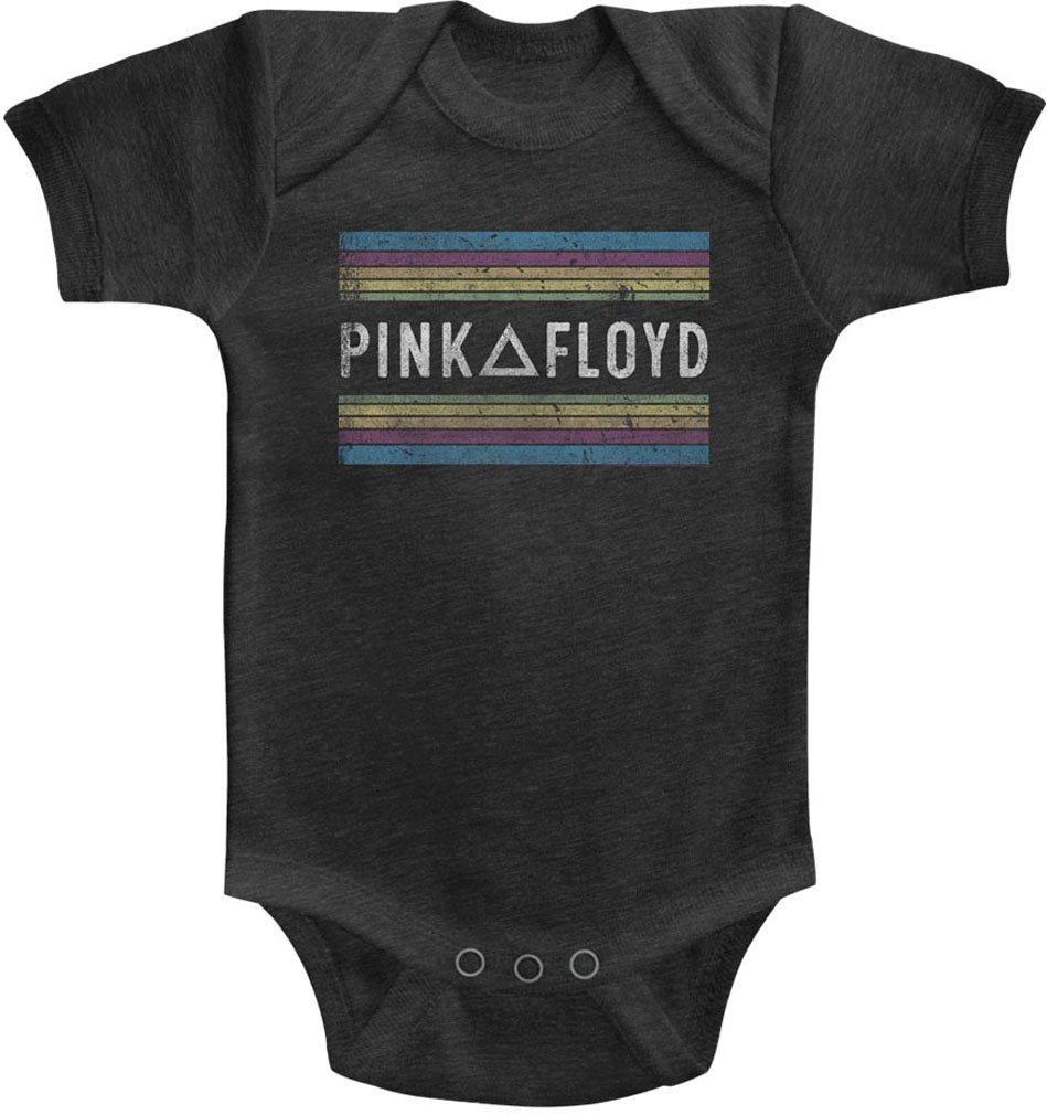 DressCode Pink Floyd - Unisex-Baby Pink Floyd Rainbows Onesie, Size: 6M, Color: Vintage Smoke