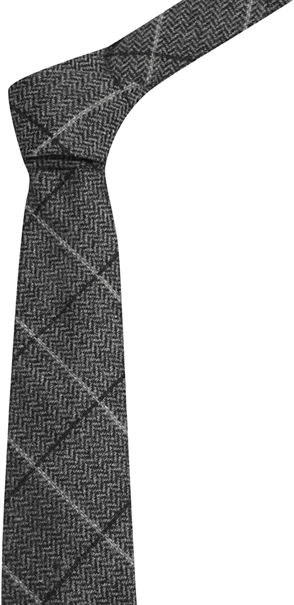 King /& Priory Graphite Grey Herringbone Check Waistcoat with Lapel