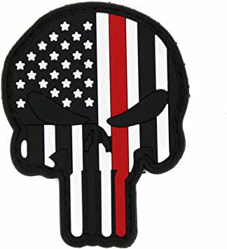 Velcro Backed Morale Patch PVC Morale Patch NEO Tactical Gear Thin Red Line Firefighter US Flag