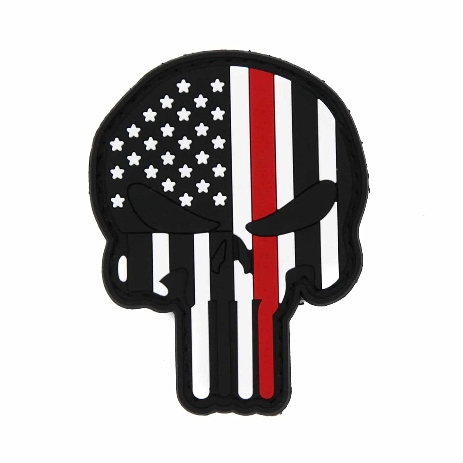 Amazon.com: Punisher Thin Blue Thin Red Line - Gancho con ...