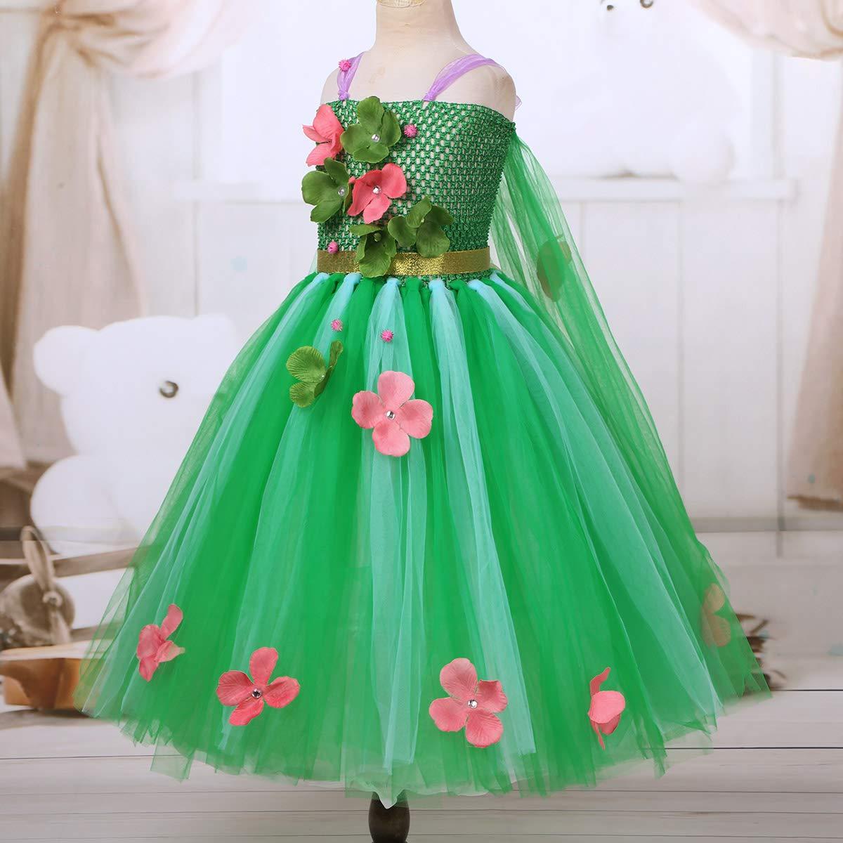 Freebily Vestido Flores Niñas Disfraces De Princesa Reina