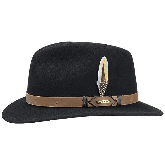 5b34f35abee Stetson Rivaton Traveller VitaFelt Hat Wool Felt  Amazon.co.uk  Clothing