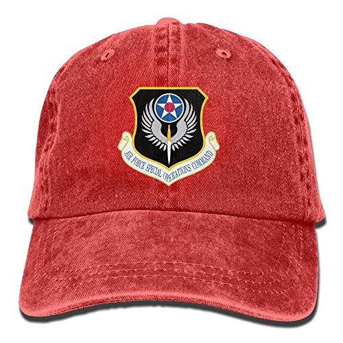 Force Air Insignia Cap (US Air Force Special Operations Command Insignia Unisex Sport Adjustable Structured Baseball Cowboy Hat)