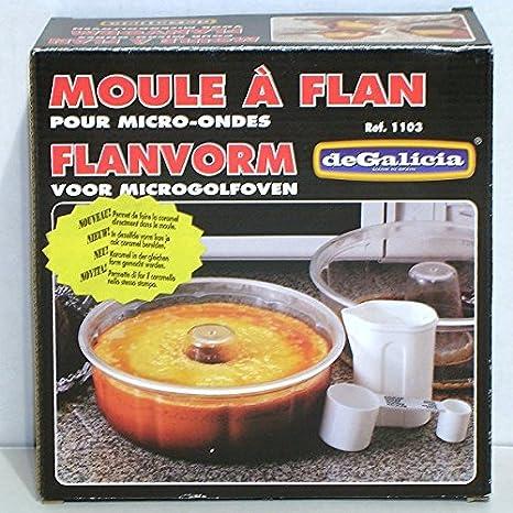 Plasticos de Galicia - Molde para flan (para microondas 20 cm Transparente *: Amazon.es: Hogar
