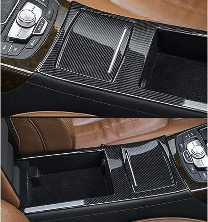 Fsxtlll Kohlefaser Stil Mittelkonsole Armlehne Box Wasser Tasse Panel Abdeckung Trim Fit Für Audi A6 2012 2018 Edelstahl Aufbewahrungsbox Trim Sport Freizeit