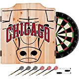 Trademark Gameroom NBA7010-CB2 NBA Dart Cabinet Set with Darts & Board - Fade - Chicago Bulls
