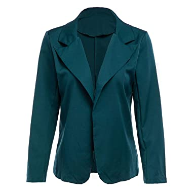 Women Blazer Solid Office Lady Suit Long Plus Size Chamarra ...