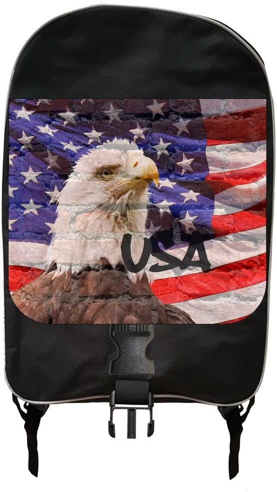 USA Eagle and Flag Wall Art Print Design Backpack and Pencil Case Set