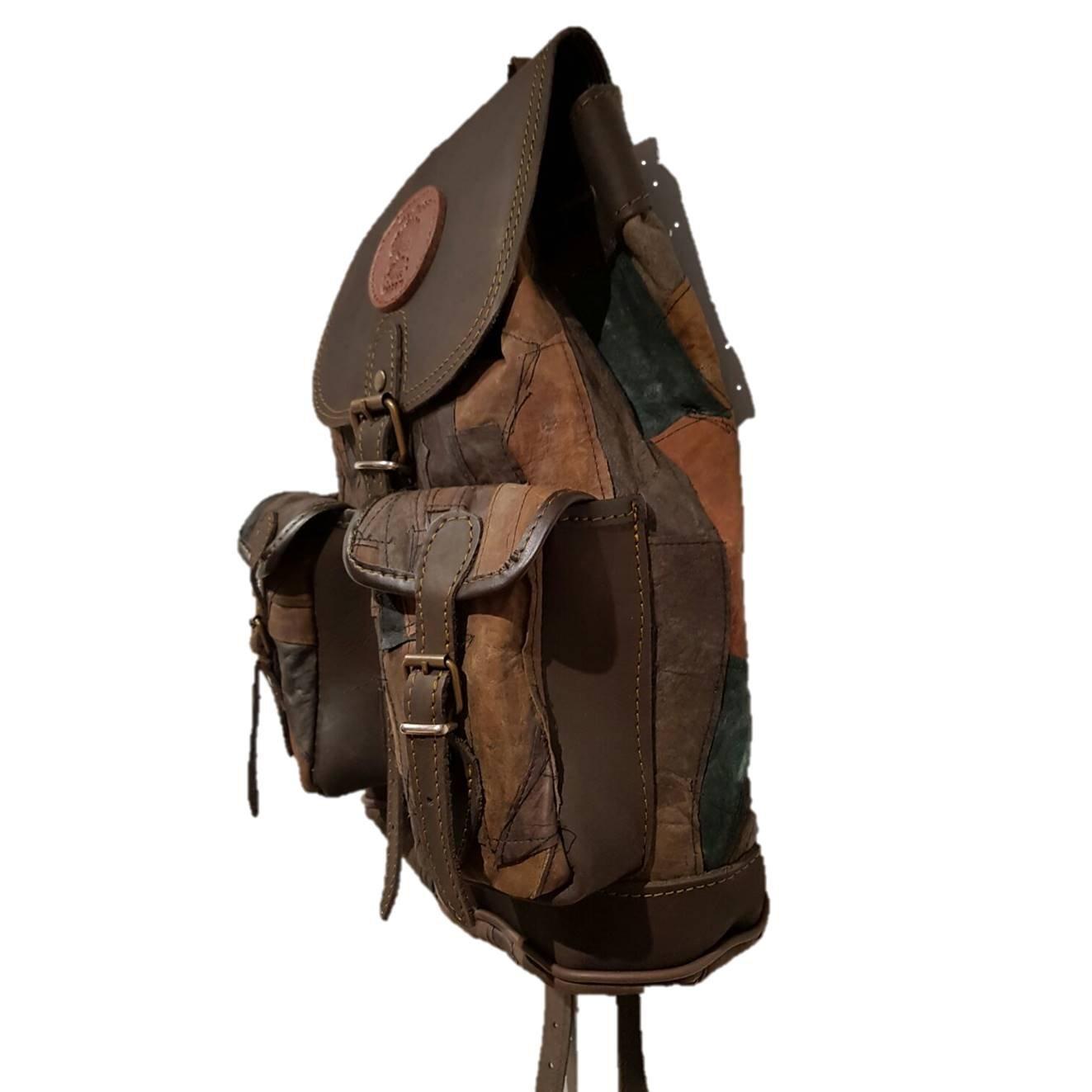 Mochila para Caza Fabricada en Piel Medieval.Medidas 34x32x12: Amazon.es: Deportes y aire libre
