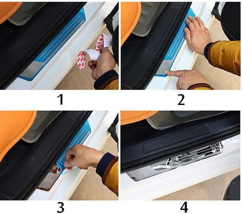 for Mazda 3 2014-2019 Welcome Pedal Kick Scuff Threshold Bar Protective Stickers Strips Plate Protector Sticker door sill Threshold N//A 4Pcs External Stainless Steel Car Kick Plates Pedal
