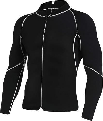 Men Neoprene Sweat Hot Sauna Suit Muscle Training Fitness Gym Wear Workout Shirt