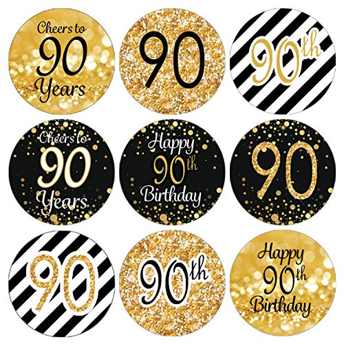 90th Birthday Candy Stickers